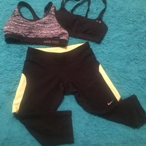 Nike xs dry fit active wear